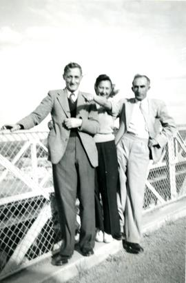 "Milner and Abrahams Family, ""Max Abrahams, Norma Milner, Abe Lewis Victoria Falls 1949"""