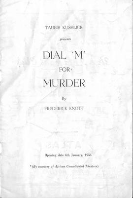 "Taubie Kushlick, ""Dial 'M' For Murder, 1"""